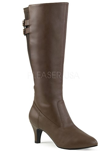 Pleaser-Pink-Label-Womens-Div2018Bnpu-Boot-Brown-Faux-Leather-15-M-US-0