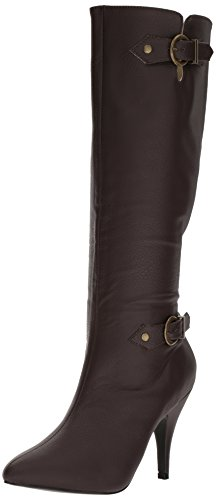 Pleaser-Pink-Label-Womens-Dre2030Bnpu-Boot-Brown-Faux-Leather-17-M-US-0