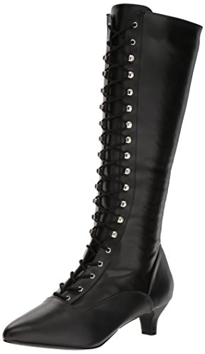 Pleaser-Pink-Label-Womens-Fab2023Bpu-Boot-Black-Str-Faux-Leather-12-M-US-0