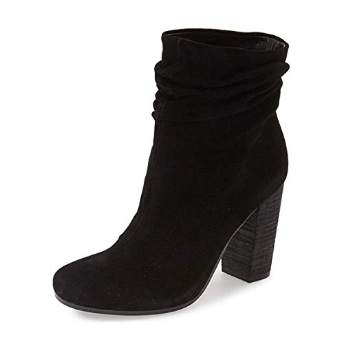 YDN-Women-Casual-Faux-Suede-Slouchy-Booties-Round-Toe-Ankle-High-Stacked-Heel-Boots-Black-14-0