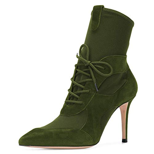 YDN-Women-Lace-Up-Ankle-Boots-Pointed-Toe-Stiletto-High-Heel-Suede-Winter-Dress-Booties-Olive-Green-11-0