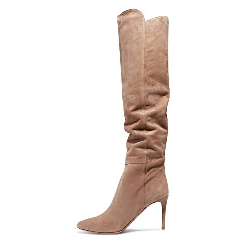 YDN-Women-Over-The-Knee-High-Heel-Boots-Pointed-Toe-Stilettos-Dress-Winter-Shoes-Nude-14-0