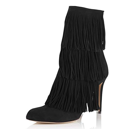 YDN-Women-Stiletto-High-Heel-Ankle-Boots-with-Fringes-Tassels-Almond-Toe-Suede-Winter-Dress-Bootie-Black-8-0