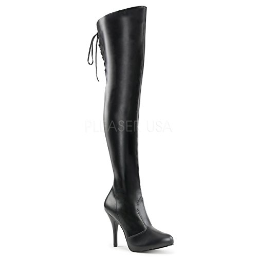 Pleaser-Pink-Label-Womens-Eve312Bpu-Boot-Black-Str-Faux-Leather-16-M-US-0