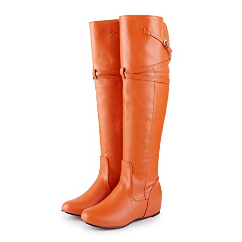Ttyug-2019-Classic-Large-Size-30-47-Inner-Heel-Riding-Boots-Women-Shoes-Woman-Leisure-Autumn-Winter-Shoes-Knee-High-Boots-Orange-12-0