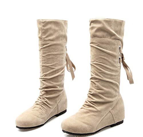 Ttyug-Big-Size-34-52-Style-Thigh-High-Women-Woman-Knee-High-Boots-Beige-7-0
