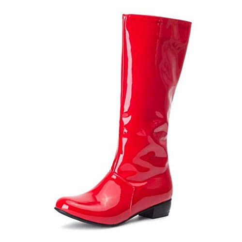 Ttyug-Mid-Calf-Women-Boots-Flats-Heels-Sexy-Patent-Leather-Riding-Boots-Knee-High-Boots-Shoes-Woman-Black-Red-Red-15-0