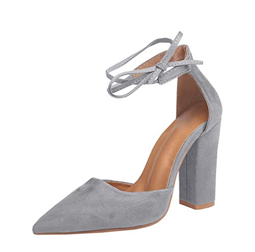 ALLAK-Womens-Swan-High-Heel-Plaform-Dress-Pump-ShoesGrey-85-M-US-0