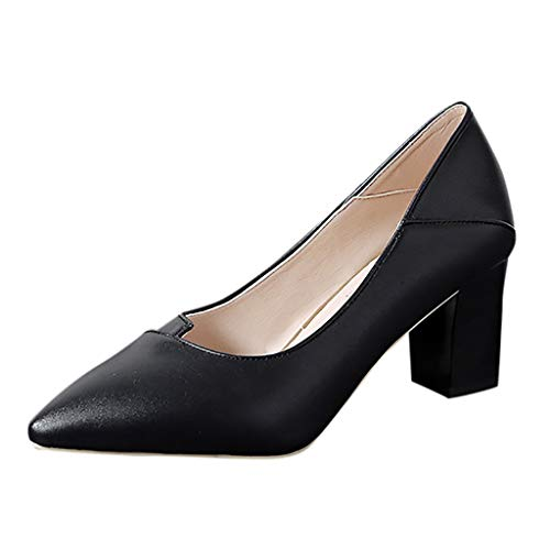 Fashion-Ladies-Thick-With-High-Heel-Pointed-Shoes-Single-Shoes-Business-Shoes-0