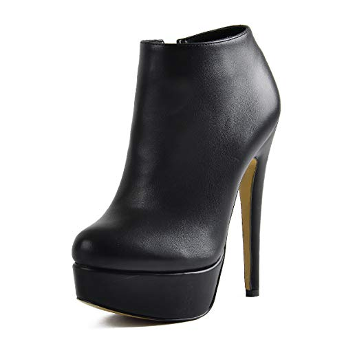 Onlymaker-Woman-Stiletto-Platform-Zipper-Ankle-Boots-Pointed-Toe-Sexy-Lady-Short-Bootie-15-M-US-Black-0