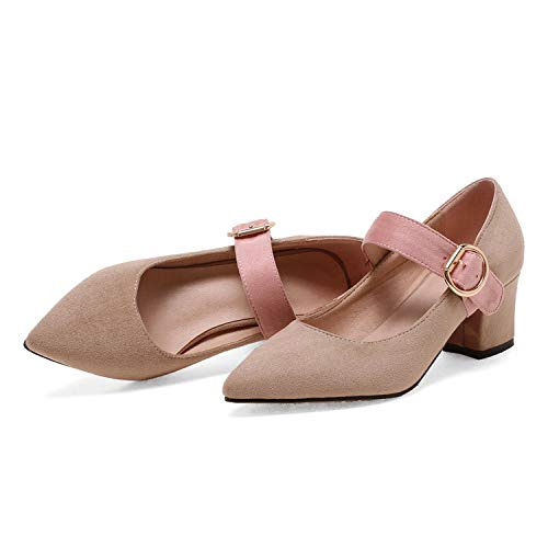 Pink-star-Women-Pumps-Shoes-Buckle-Mixed-Color-Sandals-Square-High-Heels-Shoes-Autumn-WomenApricot9-0