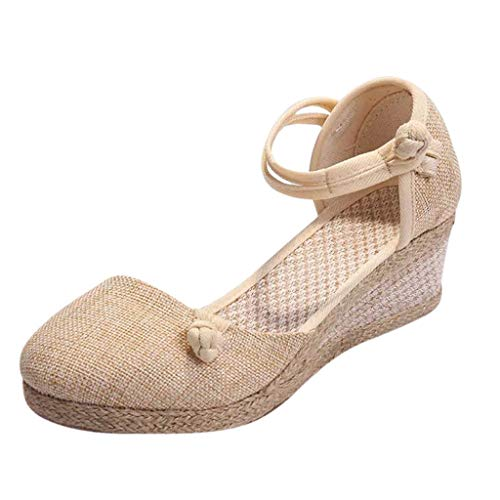 Womens-Singles-Shoes-Retro-Linen-Canvas-Wedge-Round-Toe-Casual-Sandals-Outdoor-Sandals-Beige-0