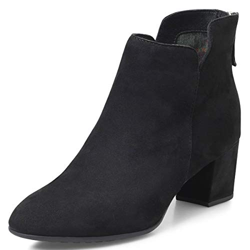 YDN-Women-Closed-Round-Toe-Chelsea-Ankle-Boots-Block-Low-Heel-Booties-Winter-Work-Shoes-Black-15-0