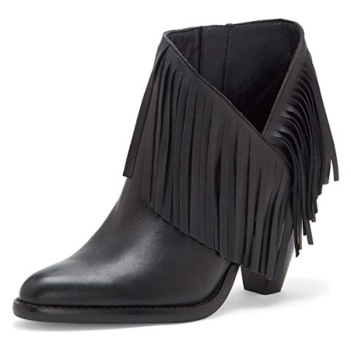 YDN-Women-High-Chunky-Block-Stacked-Heel-Ankle-Booties-Fringe-Cutout-Short-Boots-Side-Zip-Western-Shoes-Black-Leather-15-0