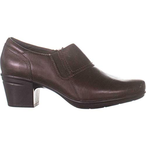 Clarks-Womens-Emslie-Craft-Closed-Toe-Mules-Brown-Leather-Size-95-0