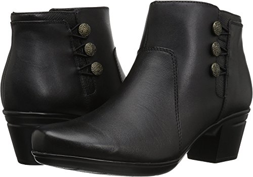 Clarks-Womens-Emslie-Monet-Ankle-Bootie-Black-Leather-95-W-US-0