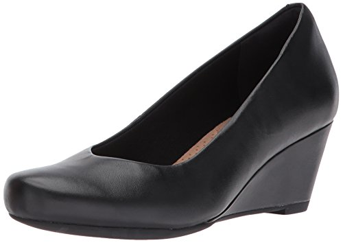 Clarks-Womens-Flores-Tulip-Wedge-PumpBlack-Leather8-M-US-0