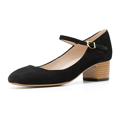 FSJ-Women-Mary-Jane-Stacked-Block-Heels-Vintage-Pumps-Retro-Round-Toe-Shoes-for-Comfort-Size-15-Black-0