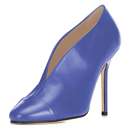 FSJ-Womens-Sexy-Pointed-Toe-Stiletto-Pumps-High-Heels-Slip-on-Evening-Bootie-Shoes-with-Cutout-Size-8-Blue-0