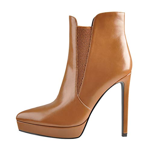 Onlymaker-Womens-Ankle-High-Stiletto-Platform-High-Heel-Pointy-Toe-Sexy-Fashion-Boots-Brown-Size-7-0