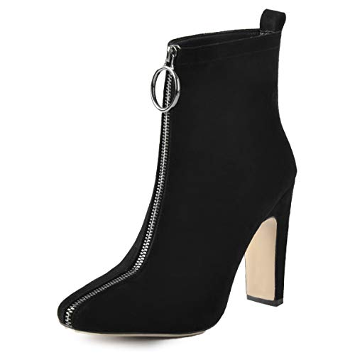 Onlymaker-Womens-Fashion-Front-Zipper-High-Block-Heel-Ankle-Boots-Squre-Toe-Modern-Sexy-Short-Bootie-Black-10-M-US-0
