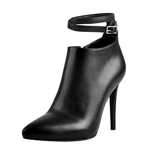 Onlymaker-Womens-High-Heels-Ankle-Boot-for-Women-Point-Toe-High-Heeled-Causual-Ankle-Boot-Black-US13-0