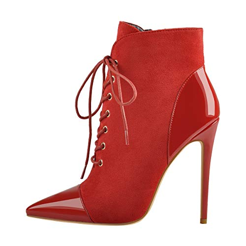 Onlymaker-Womens-Sexy-Pointed-Toe-Lace-Up-Ankle-Boots-Zipper-Stiletto-Heel-Dress-Booties-US-11-Red-0