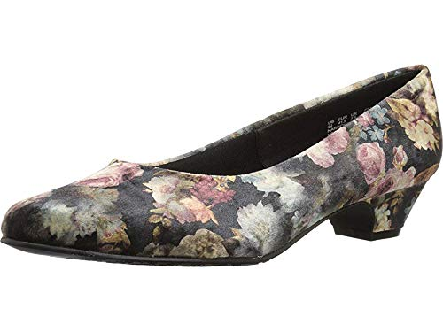 Soft-Style-Womens-Angel-II-Pump-Black-Floral-Printed-Velvet-7-Extra-Wide-US-0