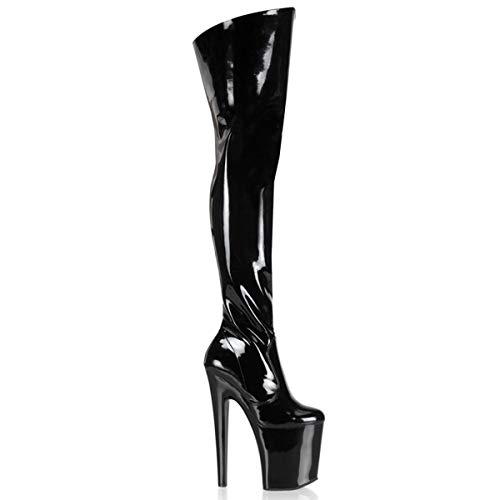 pleaser-Womens-XTREME-3010-Over-The-Over-The-Knee-Boot-PatentBlack-14-M-US-0