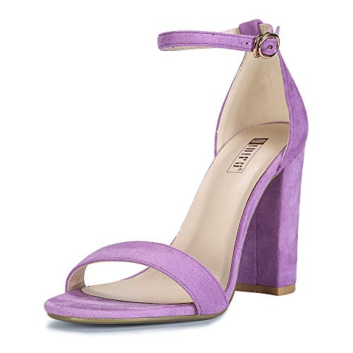 IDIFU-Womens-Cookie-HI-Block-High-Heels-Sandals-Chunky-Strappy-Open-Toe-Wedding-Party-Pump-Shoes-Lavender-Suede-9-BM-US-0