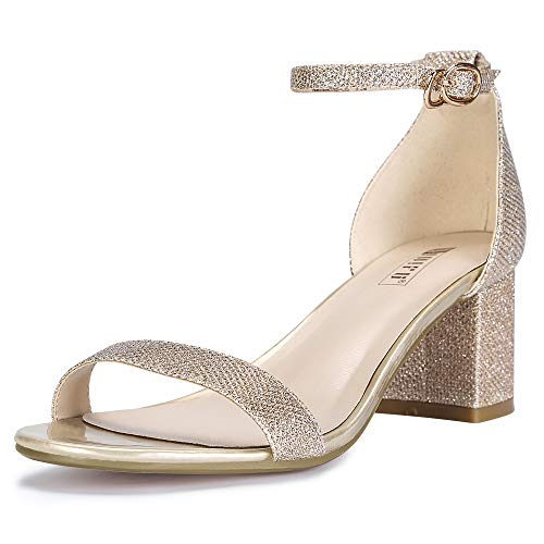 IDIFU-Womens-Cookie-LO-Low-Block-Heels-Chunky-Sandals-Ankle-Strap-Wedding-Dress-Pump-Shoes-Gold-Glitter-85-BM-US-0