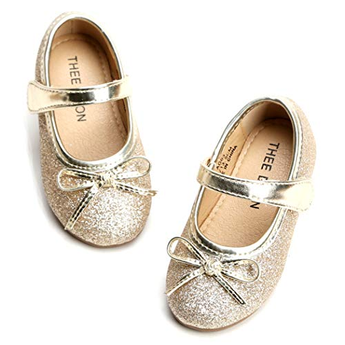 THEE-BRON-Girls-ToddlerLittle-Kid-Ballet-Mary-Jane-Flat-Shoes-13M-US-Little-Kid-Lg03-Gold-0
