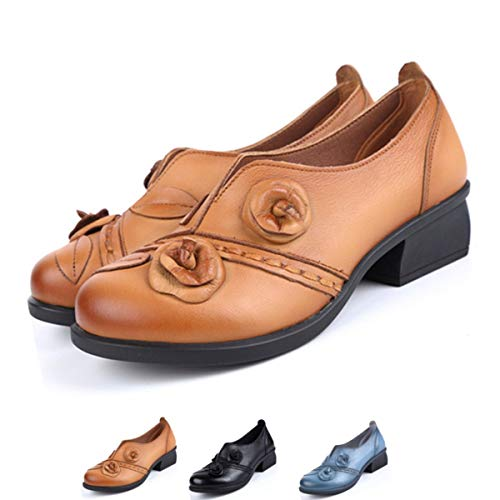 socofy-Womens-Pumps-Shoes-Mid-Heel-Leather-Pumps-Handmade-Dress-Shoes-Vintage-Flower-Retro-Original-Oxfords-Loafer-Shoes-Yellow-10-M-US-0